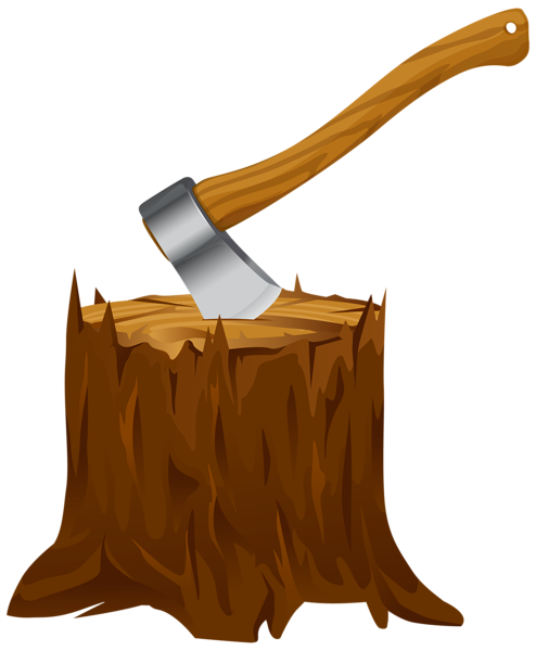 494x600 Tree Stump With Axe Clipart Png Image Tree