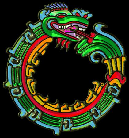 421x450 Sacred Symbols 3d Quetzalcoatl Aztec Serpent God