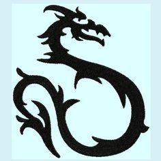 236x236 Dragon Silhouette Clip Art