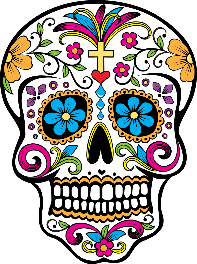 800x1068 Images For Gt Sugar Skull Black And White Clip Art