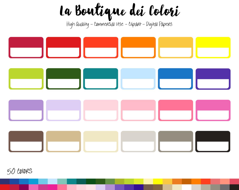 1500x1192 50 Rainbow Solid Half Rectangle Frame Clip Art, Banners Digital