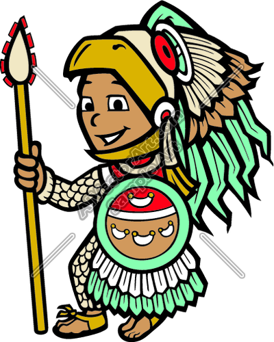 400x500 Aztec02v4clr Clipart And Vectorart People