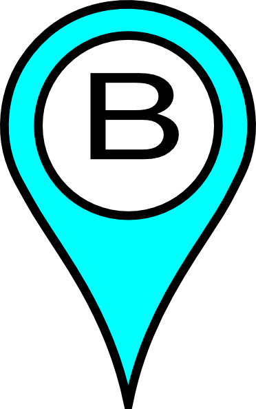 372x594 Blue Pin B Clip Art
