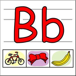 304x304 Clip Art Alphabet Set 01 B Color I Abcteach