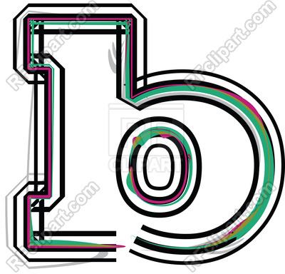 400x384 Color Line Font Illustration Letter B Royalty Free Vector Clip Art