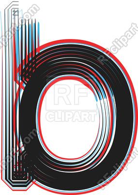 285x400 Grunge Line Font Illustration Letter B Royalty Free Vector Clip