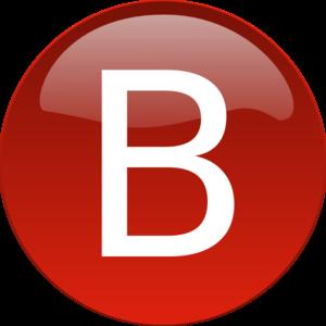 300x300 Red B Clip Art