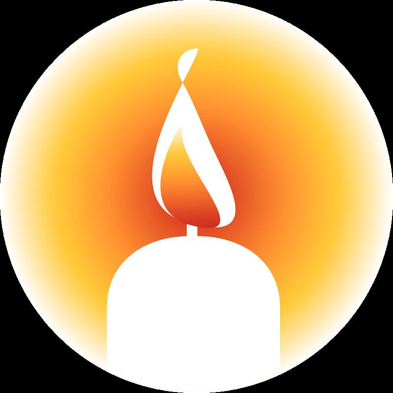 800x800 Memorial Candle Clip Art