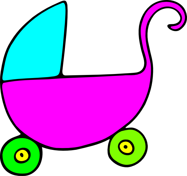 600x566 Cartoon Blue Pram Clipart