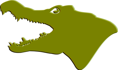 400x239 Clip Art Alligators Free