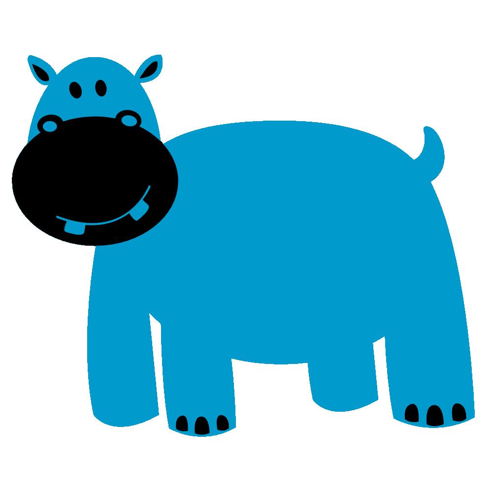 999x999 Clip Art Hippo
