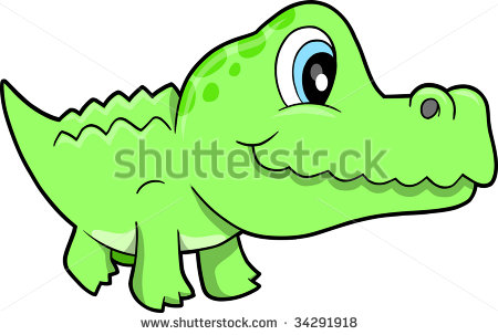 450x303 Cute Alligator Nursery Clipart