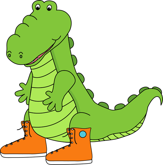 543x550 Alligator Clip Art