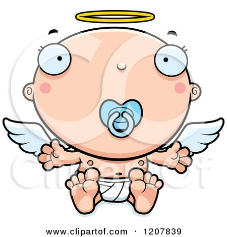 450x470 Cartoon Of A Waving Chubby Male Angel