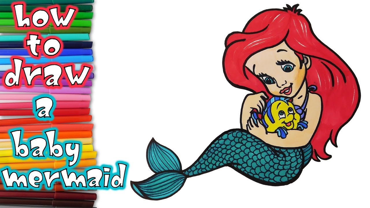 1280x720 Baby Clipart Little Mermaid 3043139