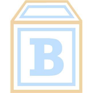 325x325 Baby Boy Blocks Clip Art