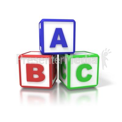 400x400 Abc Building Blocks Clipart