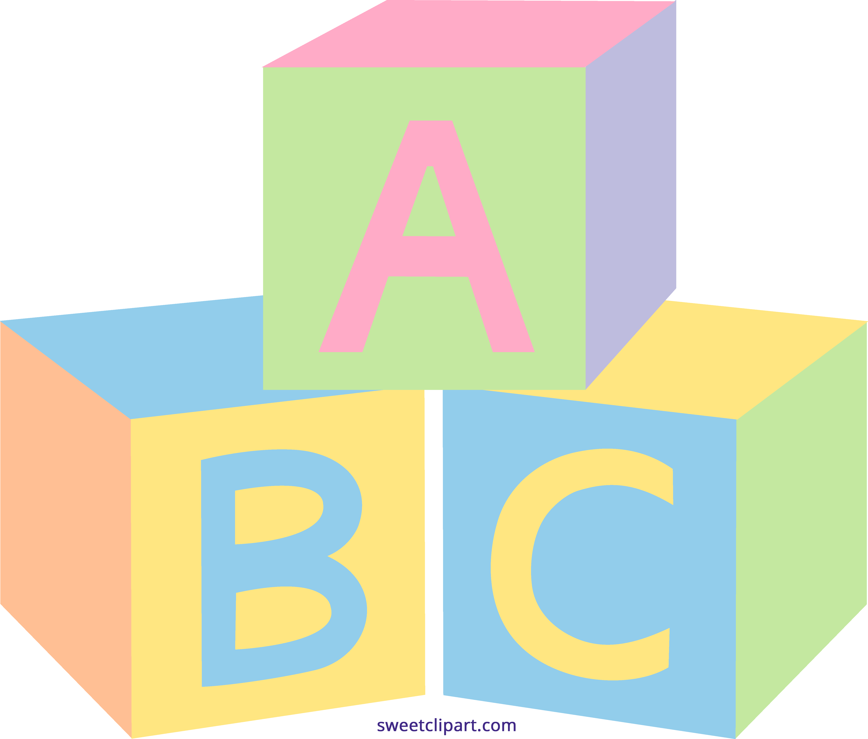 5170x4401 Pastel Baby Blocks Clipart