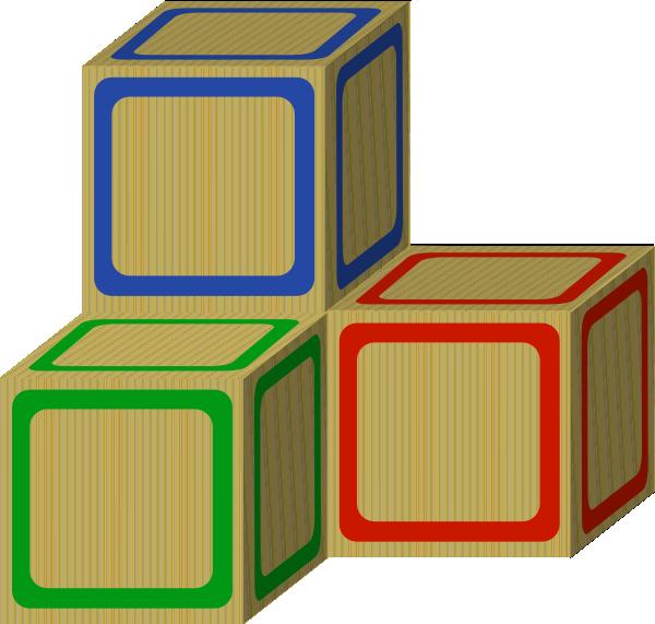 600x571 Tri Baby 2 Plain Blocks Clip Art