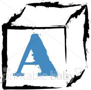 300x296 Baby Block With A Blue Letter A Clipart Baby Blocks Clipart