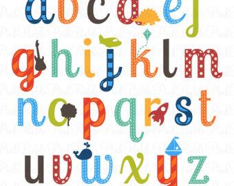 340x270 Baby Blocks Alphabet Font Clip Art Clipart Commercial