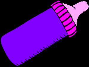 300x225 Baby Bottle Purple Clip Art