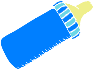 300x225 Baby Bottle Clipart Ba Bottle Blue Clip Art