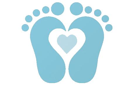 469x296 Baby Footprint Clip Art