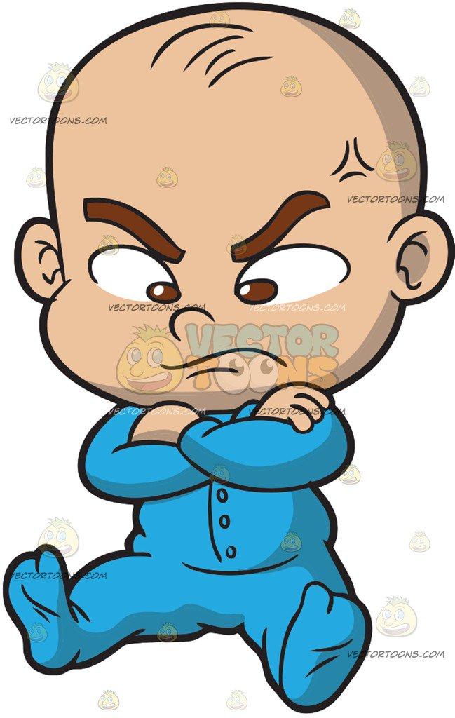 649x1024 An Angry Baby Boy Cartoon Clipart Vector Toons