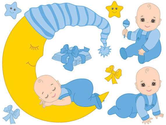 570x428 Baby Boy Clipart Digital Vector Baby Boy Blue Infant