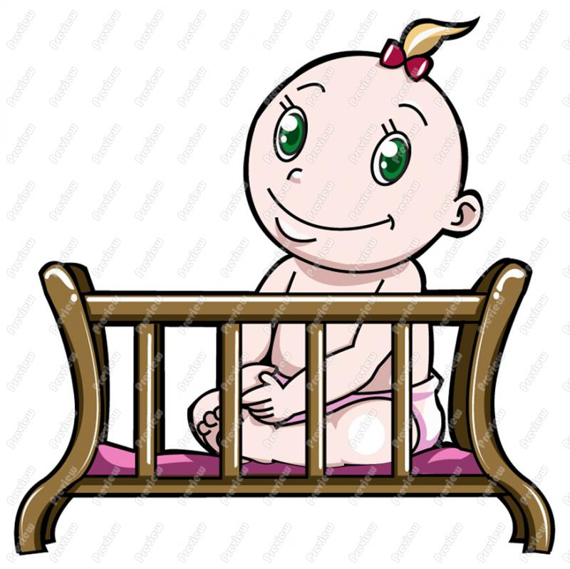 800x799 Baby Crib Clipart