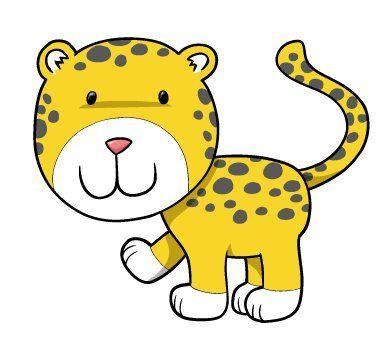 390x346 Cartoon Baby Cheetah Group