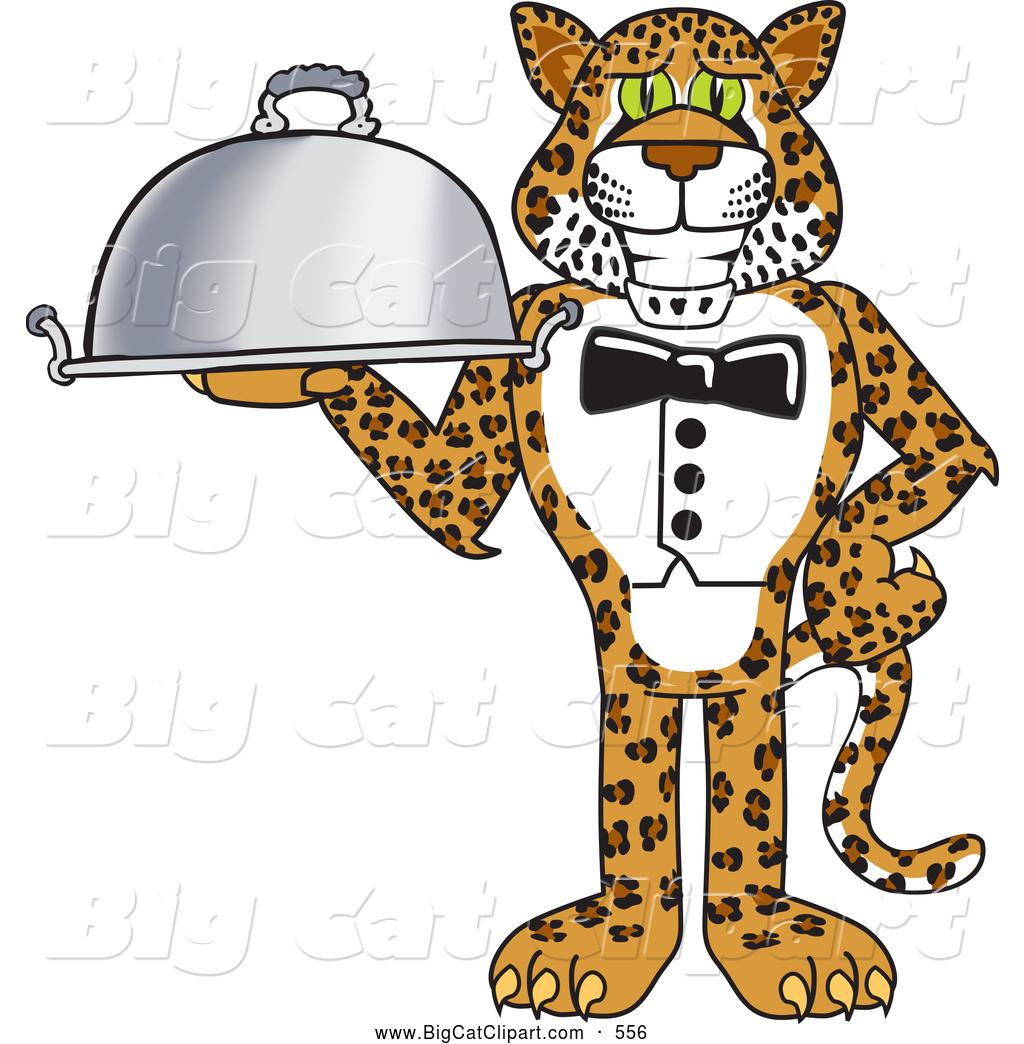 1024x1044 Big Cat Cartoon Vector Clipart Of A Smiling Cheetah, Jaguar
