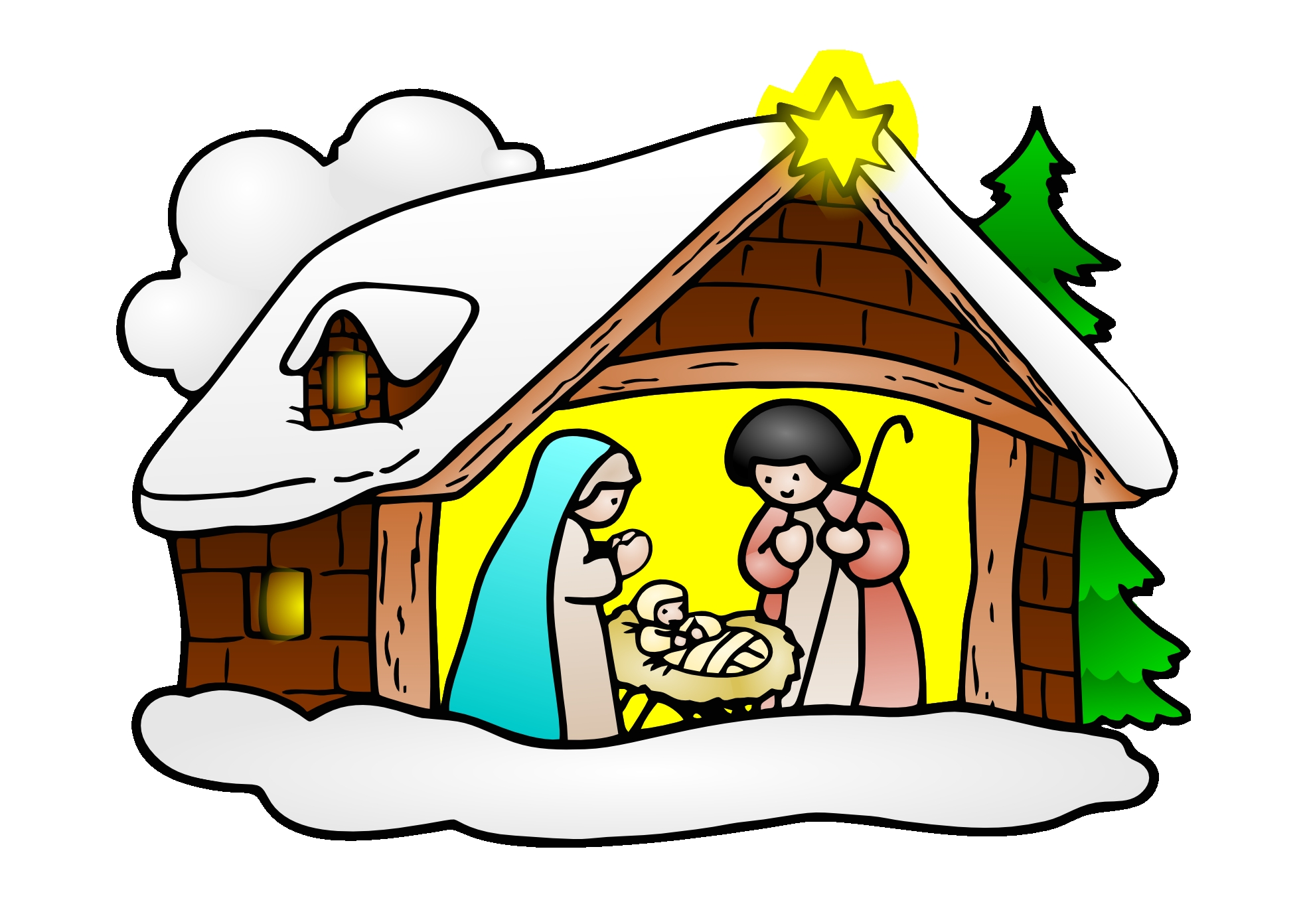 1969x1392 New Christmas Clipart Religious Gallery