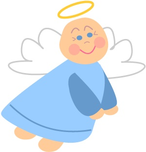 300x312 Baby Angel Clipart