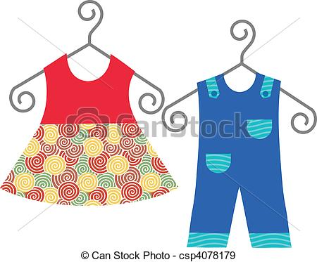 450x373 Baby Clothes Hanging On Clothes Hanger Baby Clothes Eps