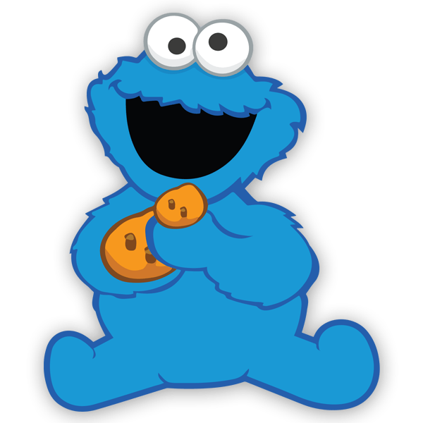 600x600 Wall Sticker For Kid The Baby Cookie Monster