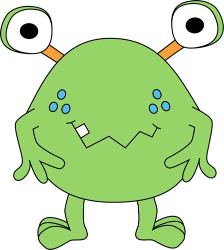 449x500 Free Cute Monster Clip Art Two Eyed Green Monster Clip Art Image
