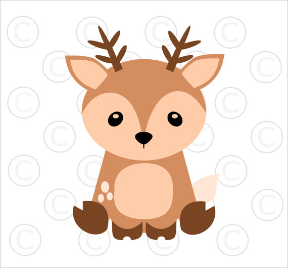 570x529 Baby Woodland Animal Svgs Baby Deer Cut Files Woodland