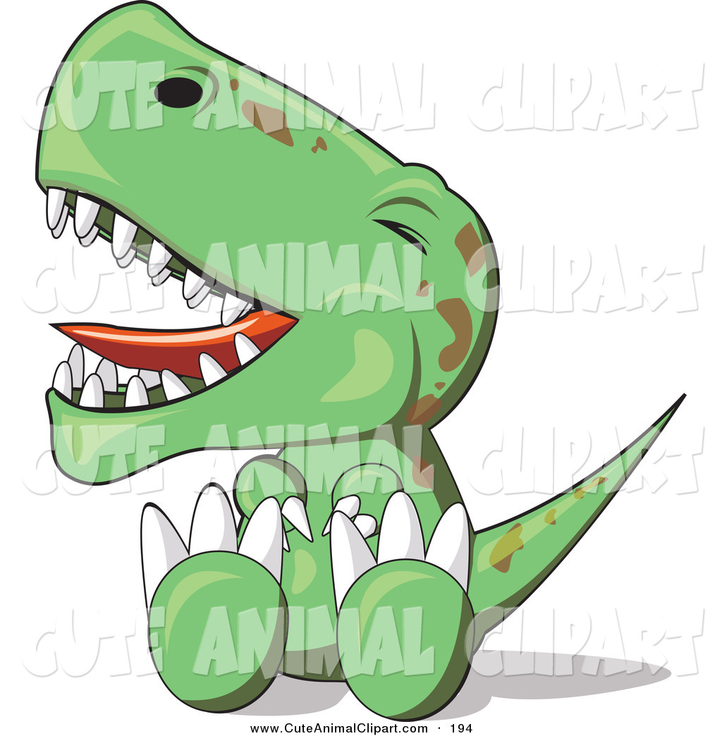 1024x1044 Vector Clip Art Of An Upset Green Baby T Rex Dinosaur Sitting
