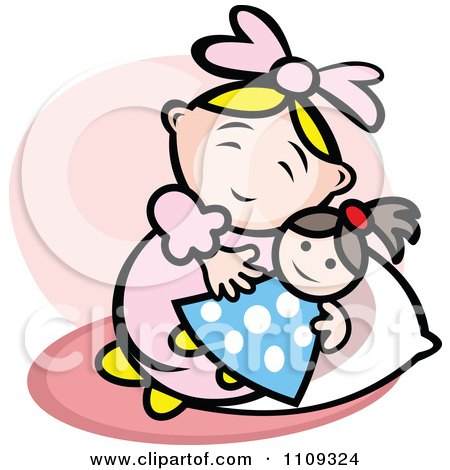 450x470 Clipart Of Flat Design Baby Toys Over Navy Blue