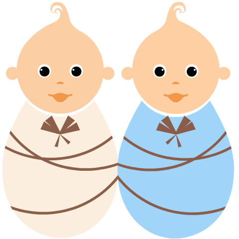 480x480 Twin Baby Clipart