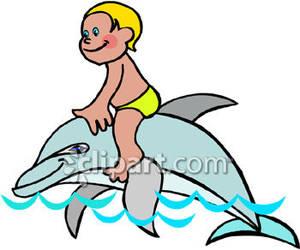 300x250 Boy Riding A Dolphin