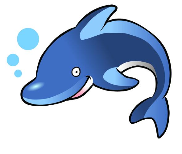 590x497 Cute Baby Dolphin Clipart