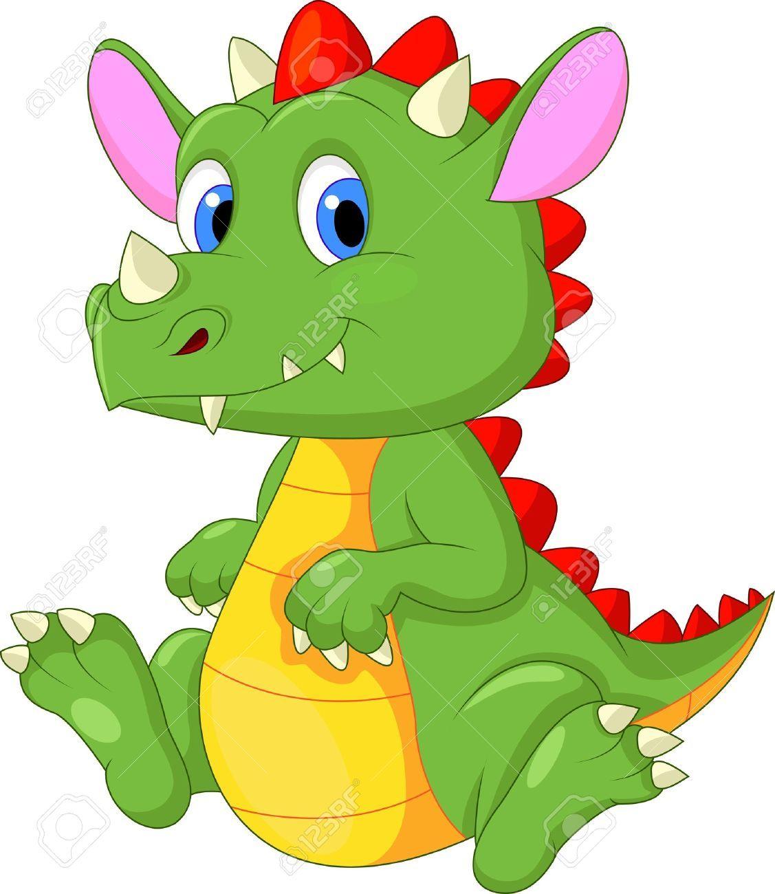 1127x1300 Cute Baby Dragon Cartoon Royalty Free Cliparts, Vectors, And Stock