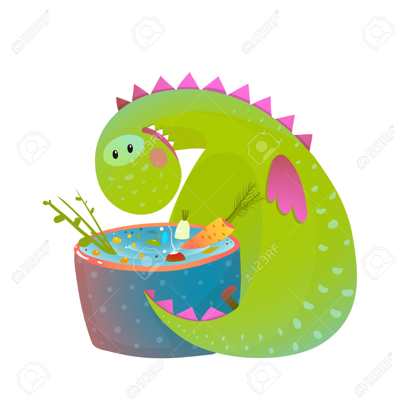 1300x1300 Dragon Clipart Cooking