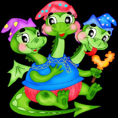 400x400 3 Headed Baby Dragon Mascot