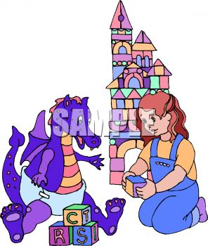 296x350 Little Girl Playing With A Baby Dragon
