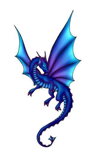 312x545 Blue Dragon Clipart Flying Dragon
