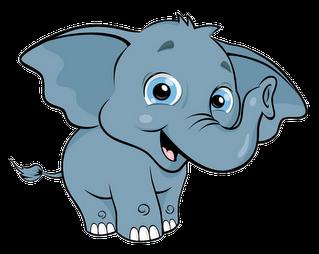 319x254 Cute Baby Elephant Clipart 2 Clipart Panda